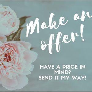 Reasonable offers welcome!